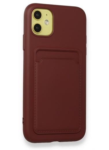 MobilCadde Xiaomi Poco X3 / X3 Pro Kartlıklı Kamera Korumalı Bordo Kılıf Bordo